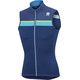 Sportful Pista Sleeveless Jersey Men blue twilight/electric blue/yellow